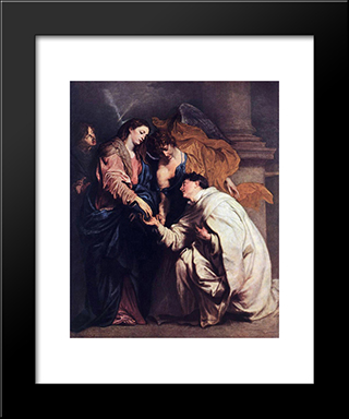Blessed Joseph Hermann:  Modern Black Framed Art Print by Anthony van Dyck