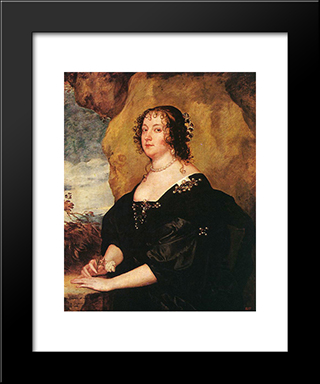 Diana Cecil, Countess Of Oxford:  Modern Black Framed Art Print by Anthony van Dyck