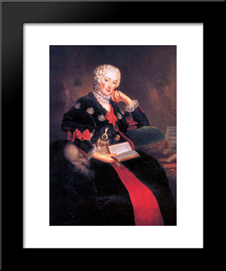 Countess Wilhelmine Von Brandenburg Bayreuth:  Modern Black Framed Art Print by Antoine Pesne