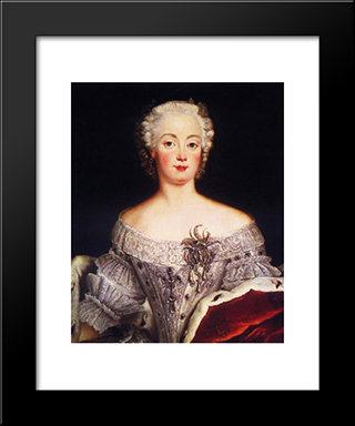Elisabeth Christine:  Modern Black Framed Art Print by Antoine Pesne