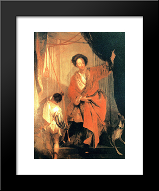 Ernst Friedrich Baron Of The Inn And Knyphausen, Royal Prussian Minister:  Modern Black Framed Art Print by Antoine Pesne