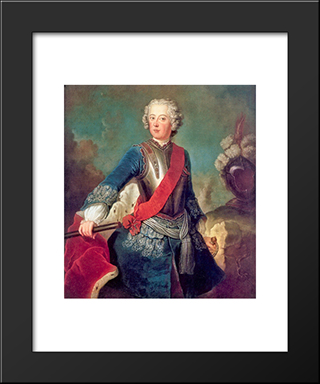 Frederick The Great:  Modern Black Framed Art Print by Antoine Pesne