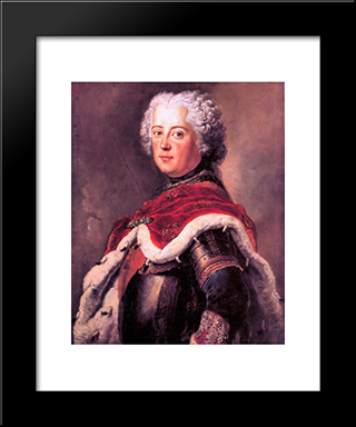 Frederick The Great As Crown Prince:  Modern Black Framed Art Print by Antoine Pesne