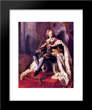 Frederik I Of Prussia:  Modern Black Framed Art Print by Antoine Pesne