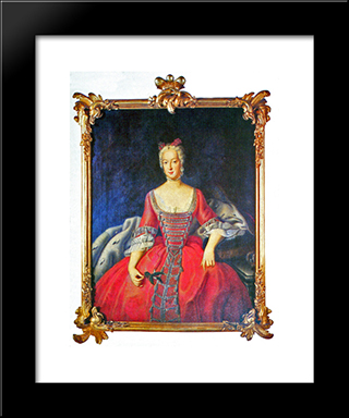 Friederike Sophie Wilhelmine Princess Of Prussia:  Modern Black Framed Art Print by Antoine Pesne