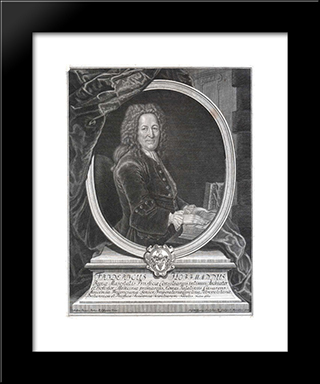 Friedrich Hoffmann, German Physician:  Modern Black Framed Art Print by Antoine Pesne