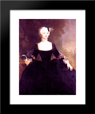 Gentlewoman:  Modern Black Framed Art Print by Antoine Pesne