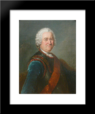 Jakob Von Keith:  Modern Black Framed Art Print by Antoine Pesne