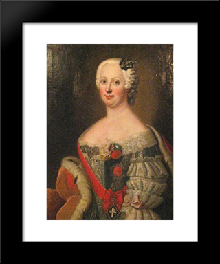 Joanna Elisabeth Of Holstein-Gottorp:  Modern Black Framed Art Print by Antoine Pesne