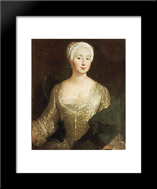 Louise Eleonore Von Wreech:  Modern Black Framed Art Print by Antoine Pesne