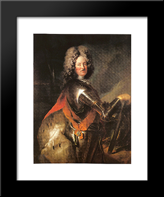 Philipp Wilhelm Of Brandenburg Schwedt:  Modern Black Framed Art Print by Antoine Pesne