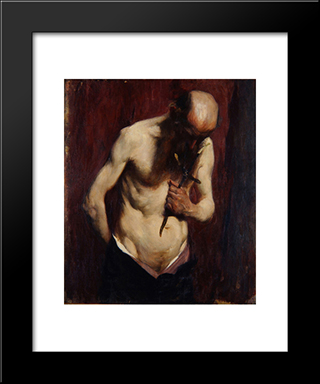 Hermit:  Modern Black Framed Art Print by Anton Azbe