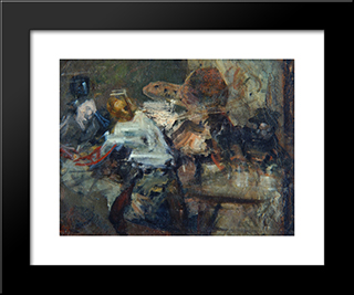 In A Studio:  Modern Black Framed Art Print by Anton Azbe