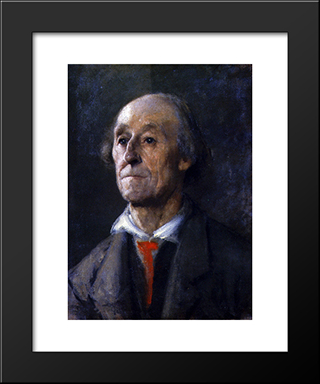 Portrait Of A Bavarian Man:  Modern Black Framed Art Print by Anton Azbe