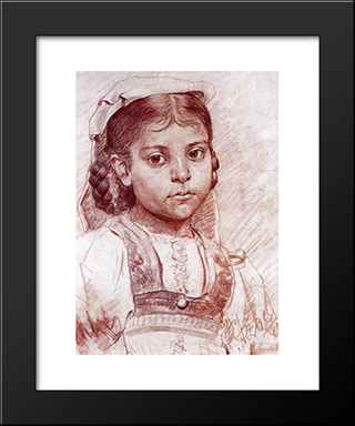 Portrait Of A Dalmatian Girl:  Modern Black Framed Art Print by Anton Azbe