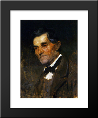 Portrait Of A Man In A Bow Tie:  Modern Black Framed Art Print by Anton Azbe