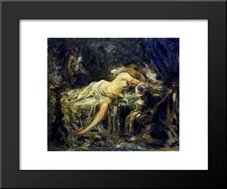 The Harem (Sketch):  Modern Black Framed Art Print by Anton Azbe