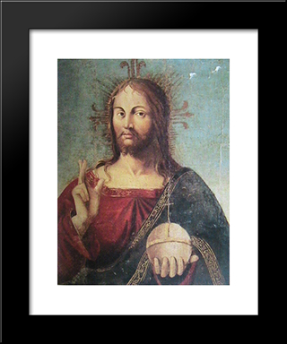 Christ:  Modern Black Framed Art Print by Antonello da Messina