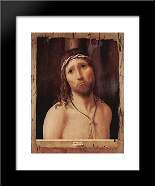 Ecce Homo:  Modern Black Framed Art Print by Antonello da Messina