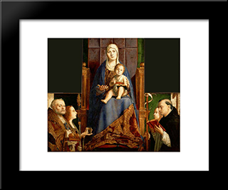 San Cassiano Altarpiece:  Modern Black Framed Art Print by Antonello da Messina