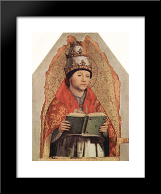 St. Gregory:  Modern Black Framed Art Print by Antonello da Messina