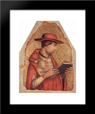 St. Jerome:  Modern Black Framed Art Print by Antonello da Messina
