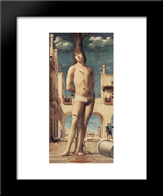 St. Sebastian:  Modern Black Framed Art Print by Antonello da Messina