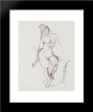 Figura Femminile:  Modern Black Framed Art Print by Antonietta Raphael