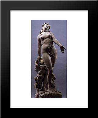 Eurydice:  Modern Black Framed Art Print by Antonio Canova