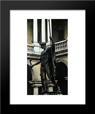 Napoleon I:  Modern Black Framed Art Print by Antonio Canova