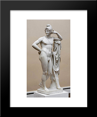 Paris:  Modern Black Framed Art Print by Antonio Canova