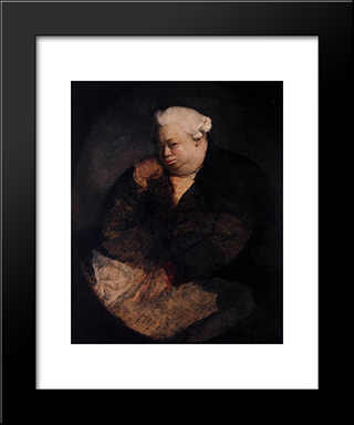 Portrait Of Amadeo Svajer:  Modern Black Framed Art Print by Antonio Canova