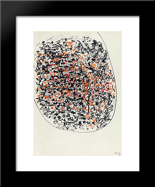 Manoscritti:  Modern Black Framed Art Print by Antonio Sanfilippo