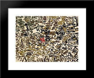 Metropoli:  Modern Black Framed Art Print by Antonio Sanfilippo