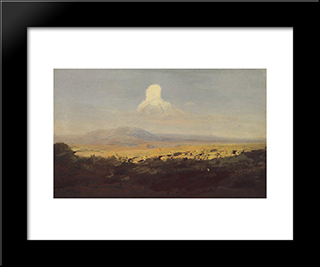 Cloud Over The Mountain Valley:  Modern Black Framed Art Print by Arkhip Kuindzhi