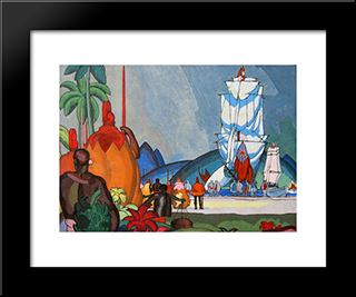 Greeting By Chiefs:  Modern Black Framed Art Print by Arman Manookian