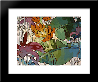 Hawaiian Flowers:  Modern Black Framed Art Print by Arman Manookian