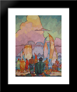 Hawaiians:  Modern Black Framed Art Print by Arman Manookian