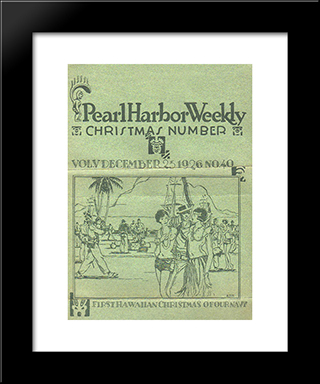 Manookian'S Cover For 'Pearl Harbor Weekly', December 1926:  Modern Black Framed Art Print by Arman Manookian