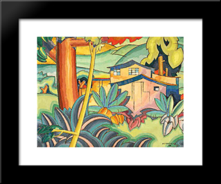 Old Kahala Home:  Modern Black Framed Art Print by Arman Manookian