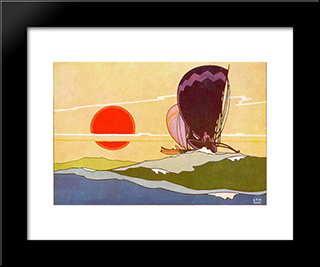 Polynesian Explorers:  Modern Black Framed Art Print by Arman Manookian