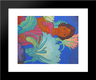 Polynesian Girl:  Modern Black Framed Art Print by Arman Manookian