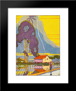 Ricefields:  Modern Black Framed Art Print by Arman Manookian