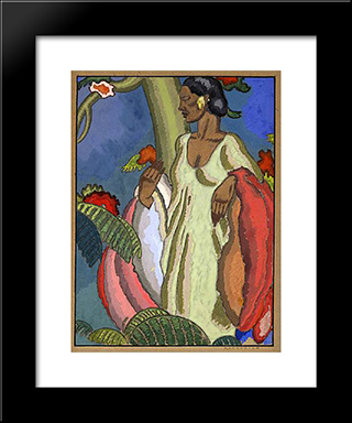 The Lei Seller:  Modern Black Framed Art Print by Arman Manookian