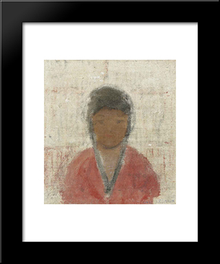 Chinita De El Playon:  Modern Black Framed Art Print by Armando Reveron