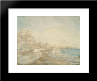 El Playon:  Modern Black Framed Art Print by Armando Reveron
