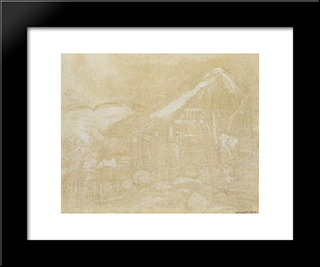 El Rancho (El Caney):  Modern Black Framed Art Print by Armando Reveron