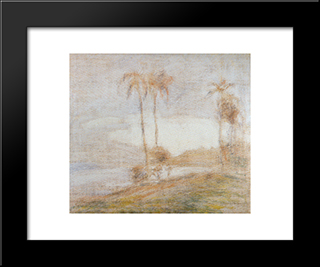 Macuto Beach:  Modern Black Framed Art Print by Armando Reveron