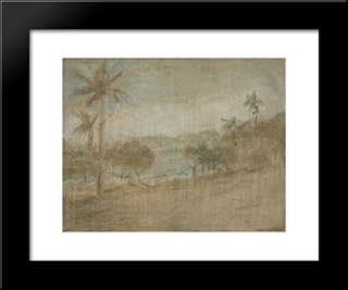 Playa De Macuto:  Modern Black Framed Art Print by Armando Reveron