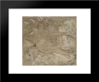 Woman Of The River:  Modern Black Framed Art Print by Armando Reveron